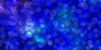 Fondo de vector rosa claro, azul con círculos