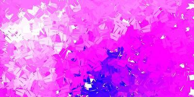 patrón de mosaico de triángulo vector púrpura claro, rosa.