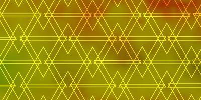 textura de vector verde claro, amarillo con estilo triangular.