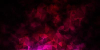 Fondo de vector rosa oscuro con triángulos.