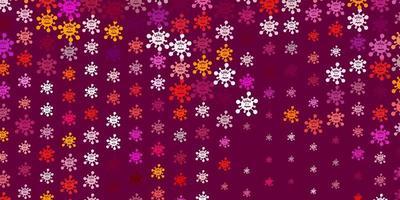 textura de vector rosa claro, rojo con símbolos de enfermedades.