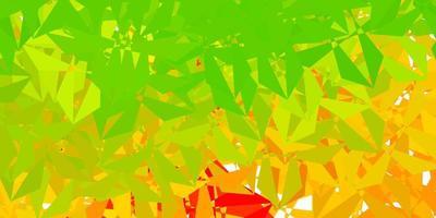 textura de triángulo de poli vector verde oscuro, amarillo.
