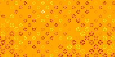 patrón de vector naranja claro con elementos mágicos.
