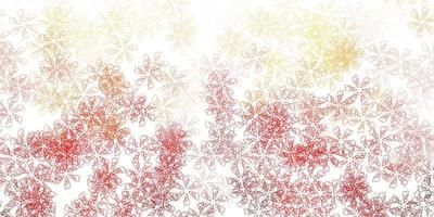 Light red vector abstract template with leaves.