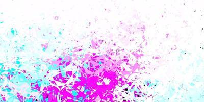 textura de vector rosa claro, azul con triángulos al azar.