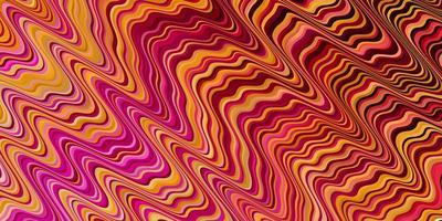 textura de vector rosa claro, amarillo con arco circular.