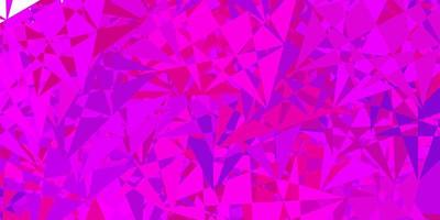 Light pink, blue vector pattern with polygonal shapes.
