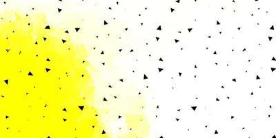 Light yellow vector geometric polygonal wallpaper.