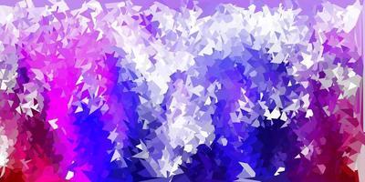 Dark purple, pink vector triangle mosaic pattern.