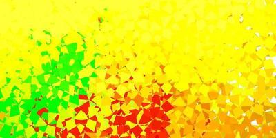 Fondo de vector verde claro, amarillo con triángulos.