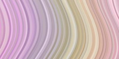 Fondo de vector multicolor claro con arcos.