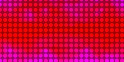 patrón de vector púrpura claro, rosa con círculos.