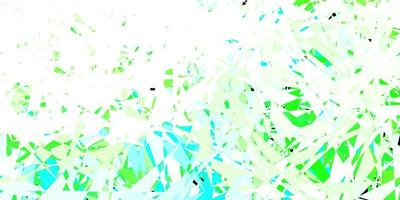 Light green vector background with triangles.