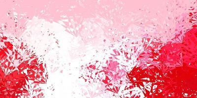 diseño de vector rosa claro, rojo con formas triangulares.
