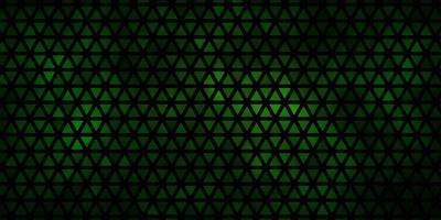 Dark Green vector background with polygonal style.