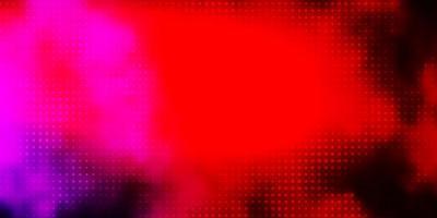 Fondo de vector de color rosa oscuro, amarillo con círculos.