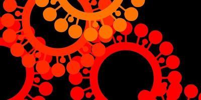 textura de vector rojo oscuro, amarillo con símbolos de enfermedades.