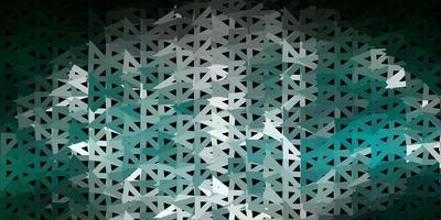 Fondo de pantalla de mosaico de triángulo vector verde oscuro.