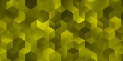 diseño de vector amarillo claro con formas hexagonales.