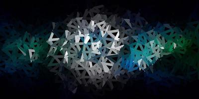Fondo de pantalla de polígono degradado de vector azul oscuro, verde.