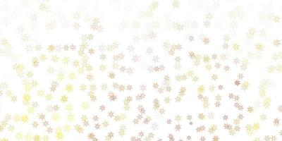 Light yellow vector abstract template with leaves.