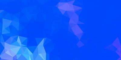 Dark pink, blue vector gradient polygon texture.