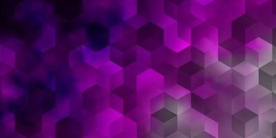 Light Pink vector background with set of hexagons.