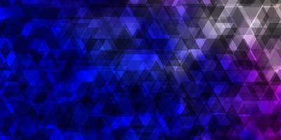 textura de vector rosa claro, azul con líneas, triángulos.