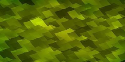 Fondo de vector verde claro con hexágonos.