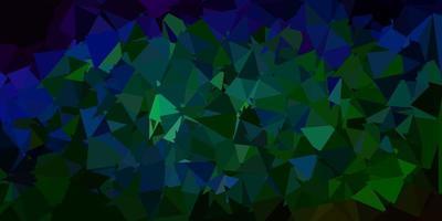 patrón poligonal de vector azul oscuro, verde.