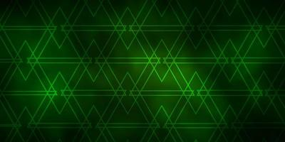 Dark Green vector template with lines, triangles.