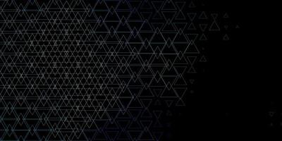 Dark Blue, Green vector background with triangles.