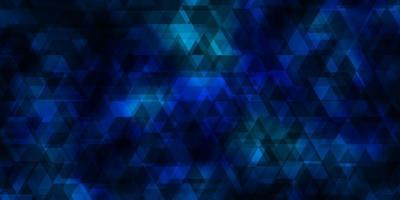 Light BLUE vector template with lines, triangles.