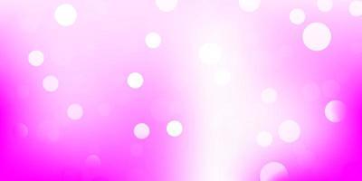 textura de vector rosa claro con discos.