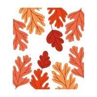 hojas de otoño patrón de colores