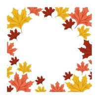 marco botánico de hojas de otoño