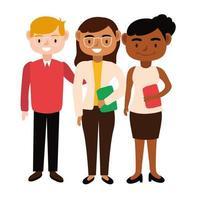 conjunto de profesores diversos vector