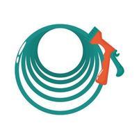 icono de estilo plano de herramienta de manguera de jardín