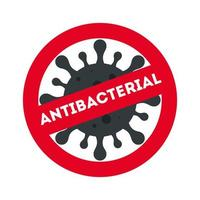 prohibición antibacteriana con diseño de vector de virus covid 19