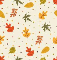 hoja de otoño de patrones sin fisuras vector
