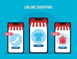 Smartphones with tent heel tshirt and gift vector design