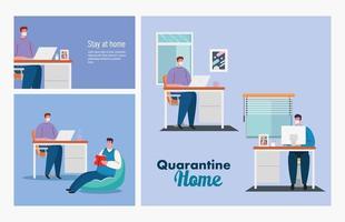 stay home, set scenes people, quarantine or self isolation