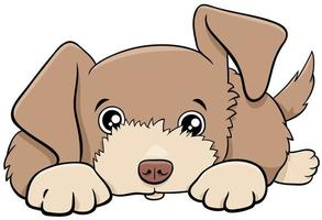 dibujos animados lindo cachorro personaje animal cómico vector