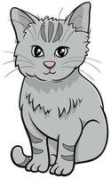 cute cat or kitten cartoon animal character vector