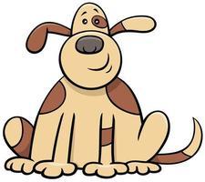 caricatura, perro manchado, cómico, animal, carácter vector