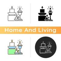 Candles and candle holders icon vector