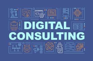 banner de conceptos de palabra de consultoría empresarial