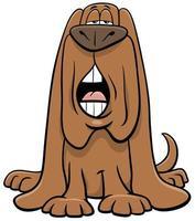 cartoon dog animal character barking or howling vector