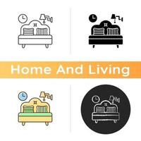 Bedroom furniture icon vector