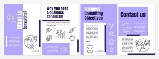 Business consulting tasks brochure template vector